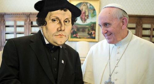 Antipapa Francesco afferma che Martin Lutero non errò sulla giustificazione, concordando con i Protestanti a riguardo