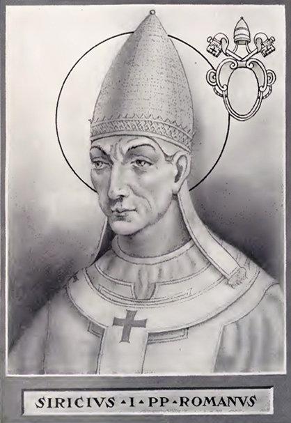 Papa San Siricio.