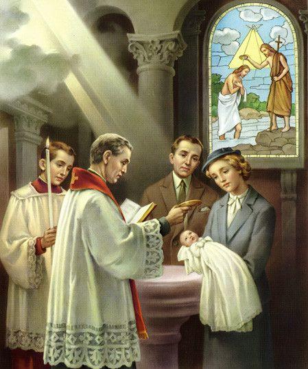 Amministrazione del Sacramento del Santo Battesimo.