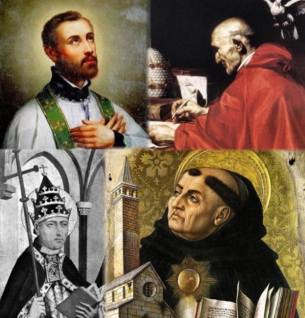 San Francesco Saverio, Papa San Gregorio Magno, Papa San Gregorio II e San Tommaso di Aquino